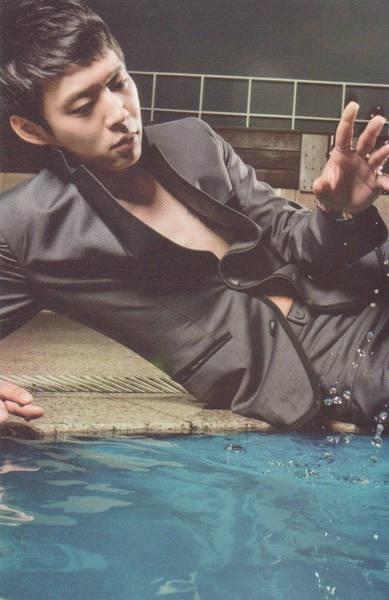 black suit & water