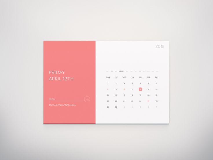 calendar dribbble giant 30 Beautiful Examples of Flat Design
