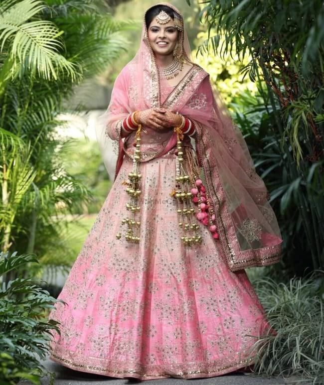 """""""light pink ombre style punjabi lehenga"""" Posted by Needhi Dhoker (quote) via looksgud.in"""