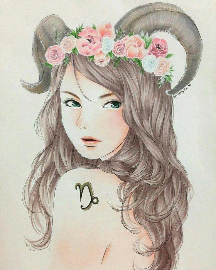 Козерог девушка картинка