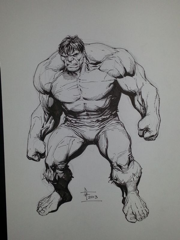 The Incredible Hulk Comic Art