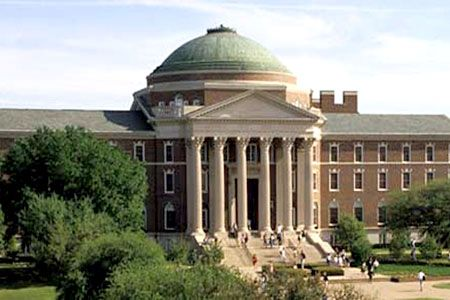 Southern Methodist University...Dallas, Texas ....Go Ponies!    This is Dallas Hall, the first building built by SMU.  bb