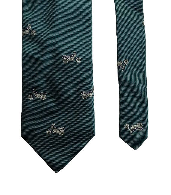 BMW Mobile Tradition Motorcycles Original Green Classy 100% Silk Men's Neck Tie #BMW #MensNeckTie #mensfashion #businessmen