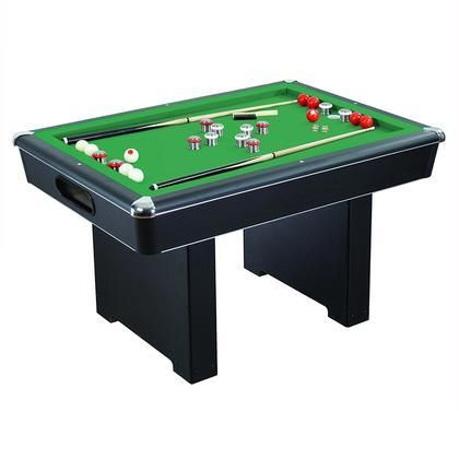 NG2404PG Renegade Slate Bumper Pool Table with Fast Action Rubber Bumpers and Internal Carpeted Ball Return System