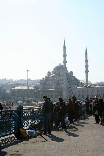 Yeni Camii from Galata bridge