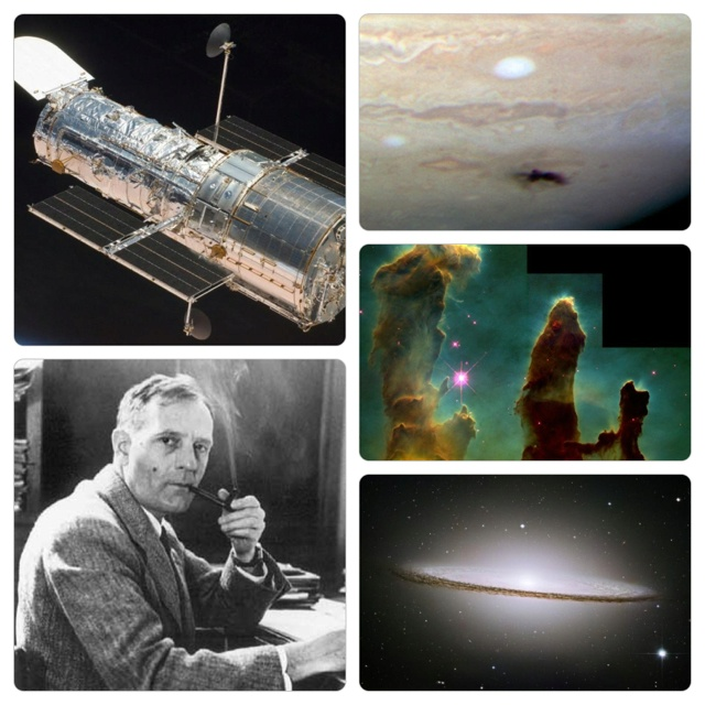 "This is ""The Hubble Space Telescope""!  This is one of the biggest telescope orbiting our earth. It was named after Edwin Powell Hubble.  Edwin Powell Hubble (November 20, 1889 – September 28, 1953) was an American astronomer who played a crucial role in establishing the field of extragalactic astronomy and is generally regarded as the leading observational cosmologist of the 20th century. Hubble generally is known for Hubble's law. He is credited with the discovery of the existence of…"