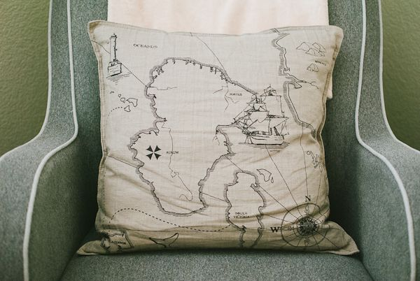 map pillow // Inspired by This