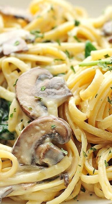 Mushroom Florentine Pasta - Okay.  May try again and change a couple things.