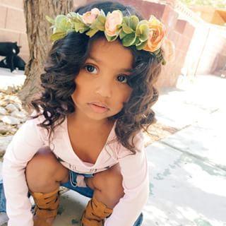 Beautiful curls on a beautiful little girl