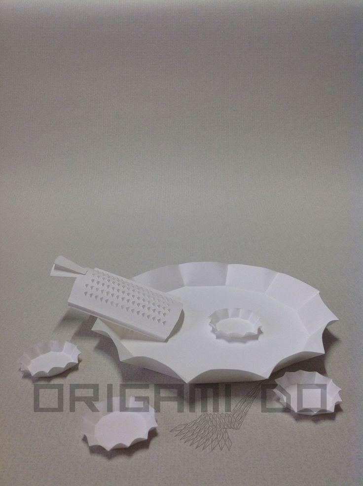 Origami Grattugia, Tortiera e Stampini