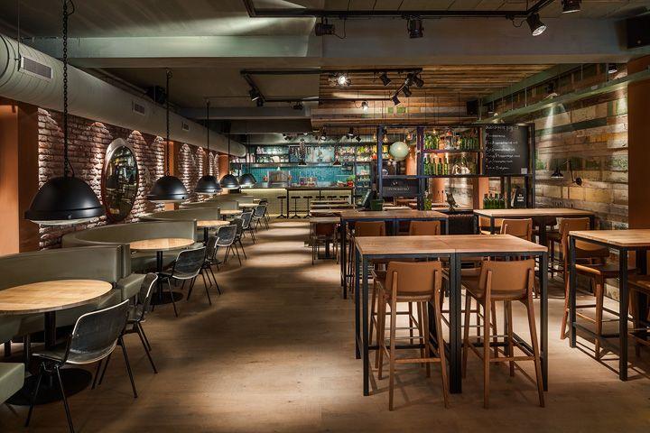 Restaurant With Industrial Restaurant Kitchen Design On Uncategorized photo - 7