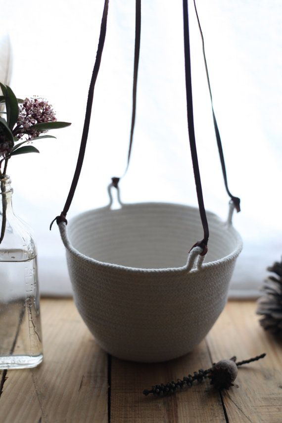 Small Hanging Basket Holds 6 Pot by FloraFaunaCollective on Etsy