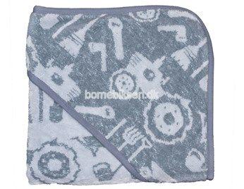 Sebra hættehåndklæde, bomuld, Farm dreng