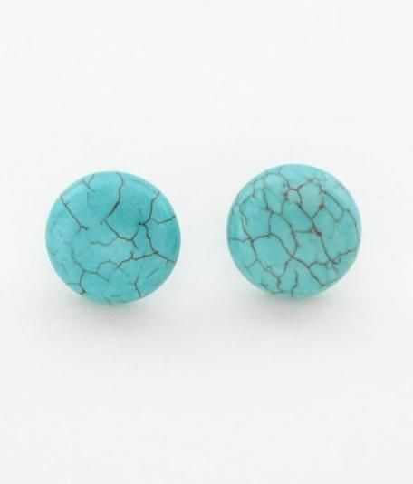 These simple studs are the perfect pop of turquoise blue. $12