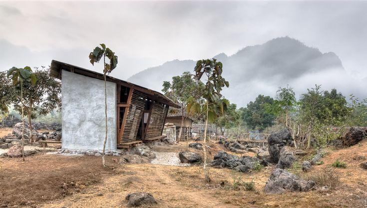 tyin tgnestue, tailandia, bangkok, bambu, sostenible, arquitectura solidaria, arquitectura social, ventilación, autocosnstruccion, local, artesanos, detalle, reciclaje, juegos, biblioteca, save haven