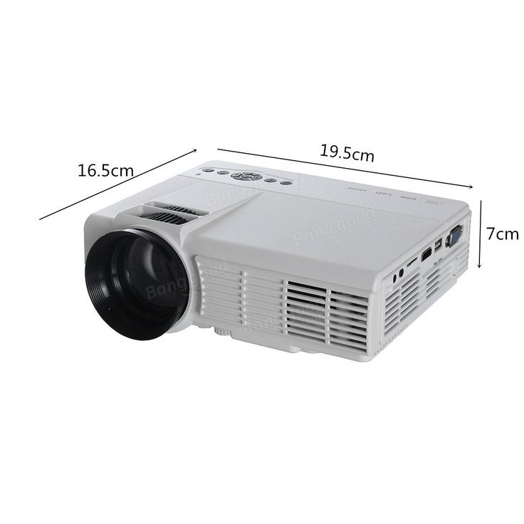 3D HD 1080P 3000Lumen Home Theater Multimedia PC VGA USB HDMI LED Projector Sale - Banggood.com