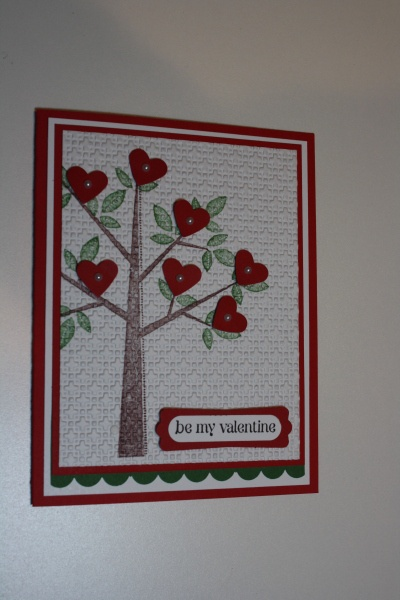 Valentine for M-I-L this year.: Stamps Cards, Valentines East Cards, Valentines Crafts, Valentines Ideas, Crafts Trees, Families Trees, Valentines Cards, Quilts Ideas, Valentines Quilts