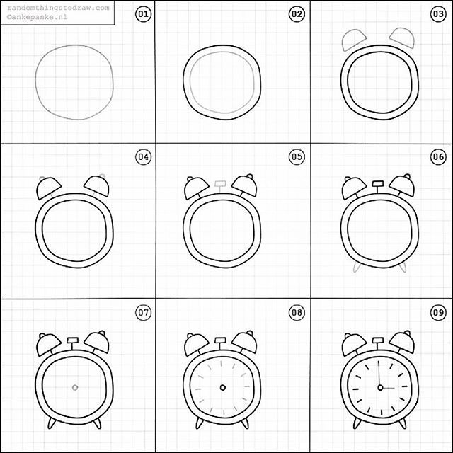 When I found this account yesterday I did a little cheer. Hooray! Every single post is a step by step guide to draw simple items like this alarm clock. Even I can be successful with these tutorials!!! I highly suggest you follow @randomthingsdraw. I wonde