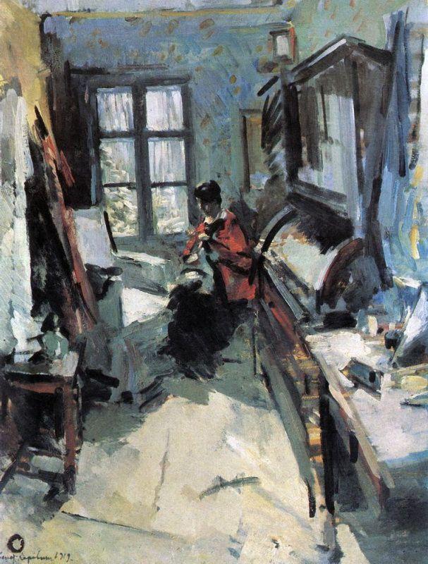 В комнате. 1919. Коровин Константин Алексеевич (1861-1939). Описание картины, скачать репродукцию.