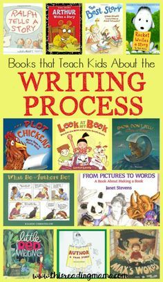 Books that Teach About the Writing Process ~ a book list from This Reading Mama More