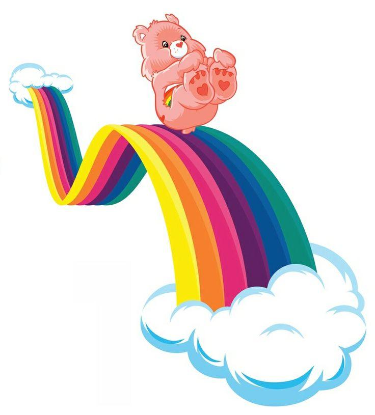 Care Bears: Cheer Bear Sliding Down a Rainbow