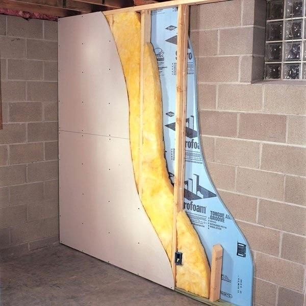 How To Drywall Concrete Basement Walls How To Build A Wall In A Basement Sheetrock Basement Concr Concrete Basement Walls Concrete Walls Bedroom Updating House