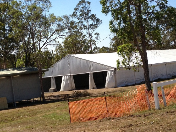 First marquees are up!