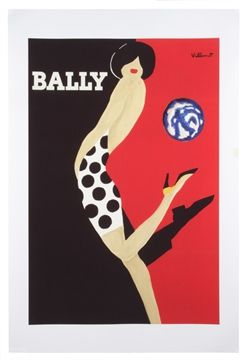 Bally Polka Dot Lady Poster Large - Matt Blatt
