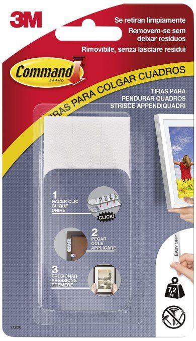 Command 17206 - Pack de 4 tiras para cuadros grandes color blanco