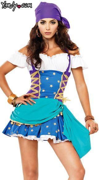 Gypsy Halloween Costume, Adult Gypsy Princess Halloween Costume, Sexy Gypsy Halloween Costume
