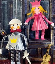 Paper craft: knight & princess #DIY #kids #cute #templates #howto