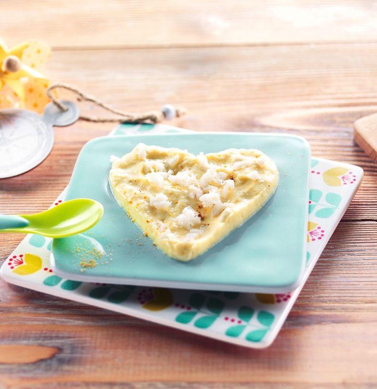 """Une recette pour dire """"Je t'aime"""" à Bébé le jour de la Saint-Valentin! Cabillaud et chou-fleur au curry. Recette adaptée à bébé dès 18 mois #recettebébé #18mois #saintvalentin #curry #glutenfree"""