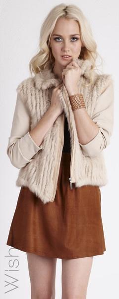 One beautiful wish fur jacket left on sale x