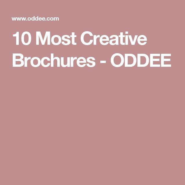 10 Most Creative Brochures - ODDEE