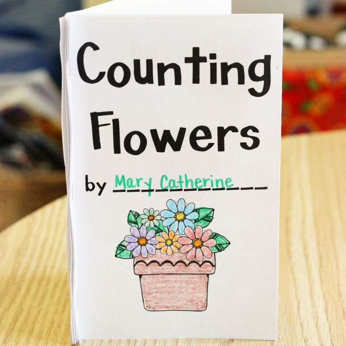 Printable Book About Counting Flowers