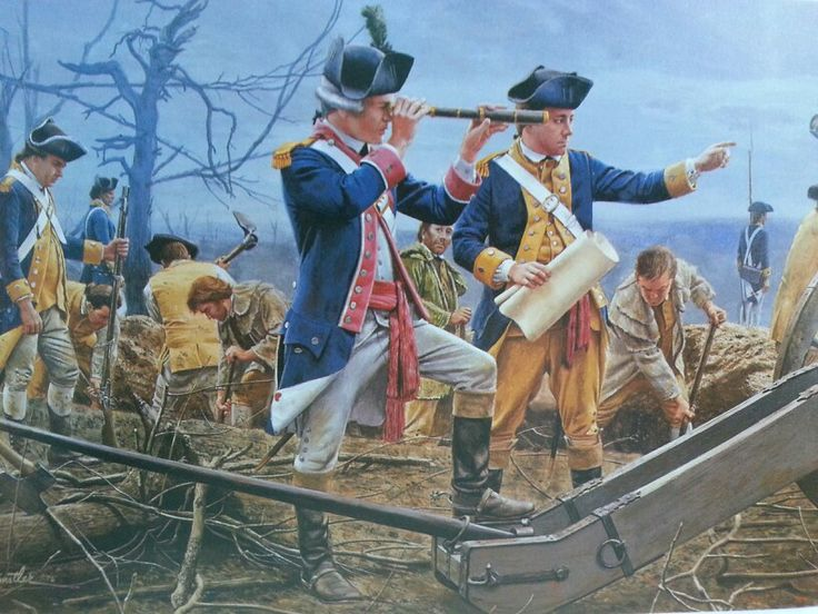 """Digging trenches at Yorktown"" American Revolutionary War"