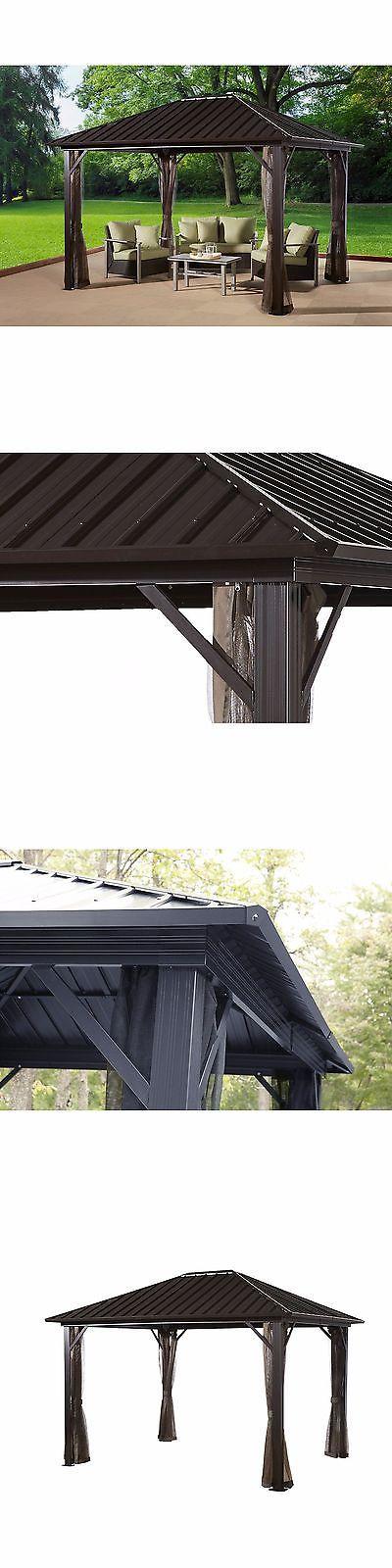 Gazebos 180995: Metal Roof Gazebo Hardtop 10X12 Permanent Outdoor Patio Aluminum Frame Backyard -> BUY IT NOW ONLY: $1966.95 on eBay!