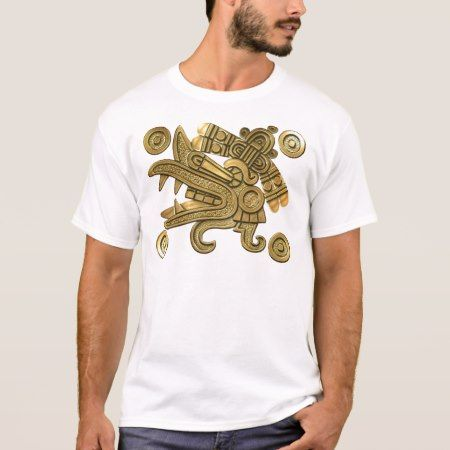 Aztec Gold Ehecatl T-Shirt - click/tap to personalize and buy