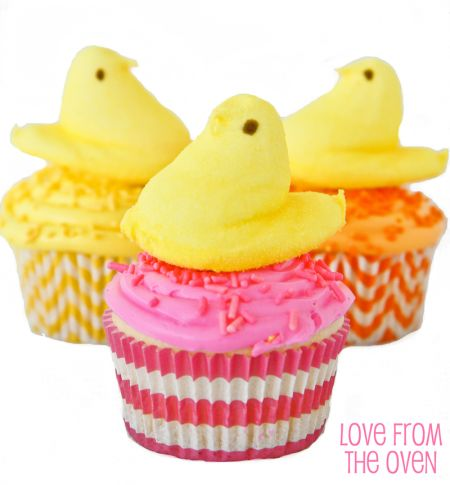 PEEPS Chick Cupcakes
