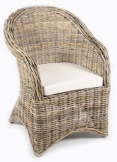 Greige shop:  inspiration--like this chair better than the wicker chair in the master BR