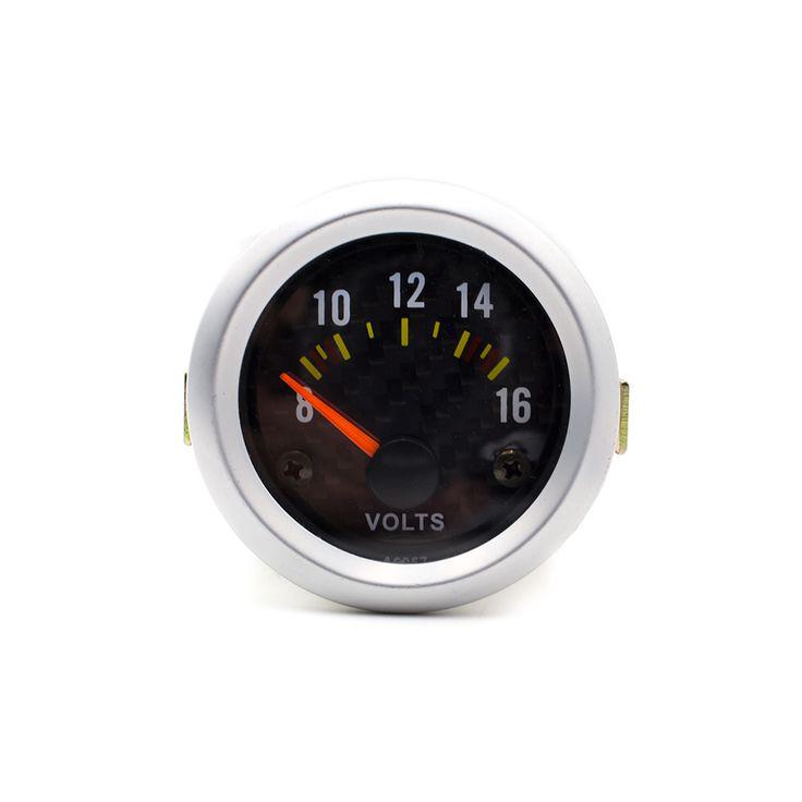 """free shipping Volt meter 2"""" Inch 52mm Electrical Volt Gauge Meter Carbon Fiber Face/Tachometer/car meter/auto gauge"""