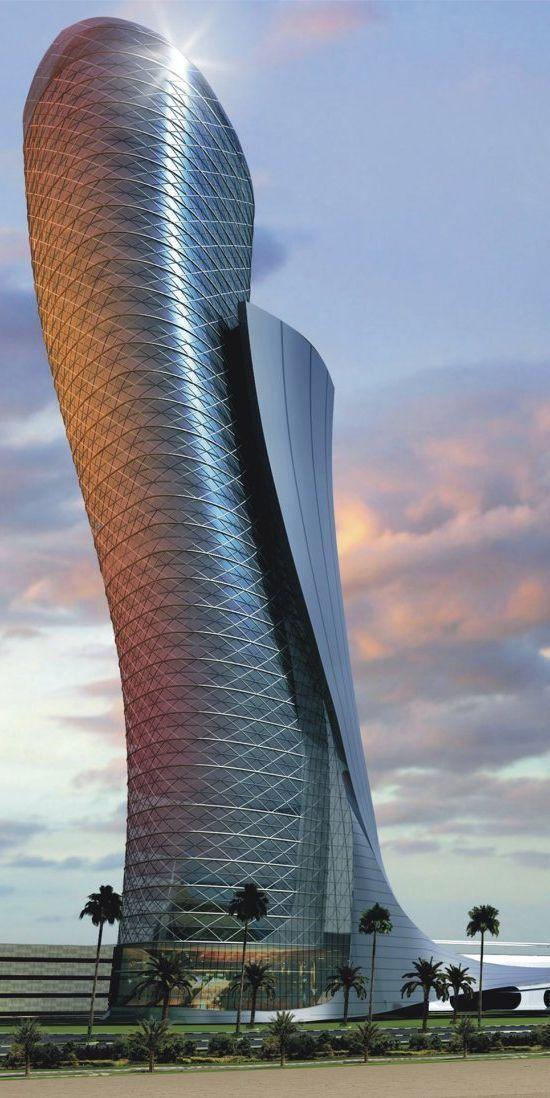 "Capital Gate Tower | RMJM Dubai | Abu Dhabi | Verenigde Arabische Emiraten | ""World's Furthest Leaning Manmade Tower""                                                                                                                                                      More"