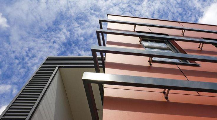 Mejores 15 im genes de fachadas ventiladas en pinterest curvas clima y costillas - Paneles de fibrocemento ...