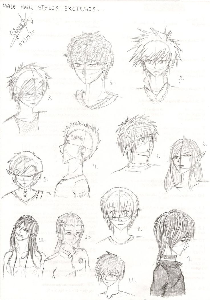 how to draw anime boy hair google search