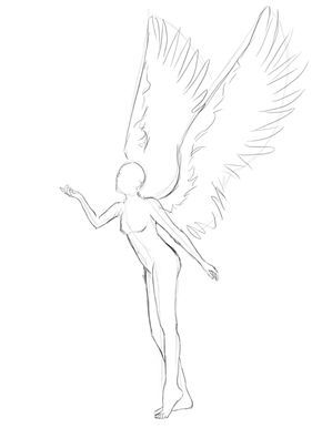 winged poses | Creating an Anime-Styled Angel Vect…