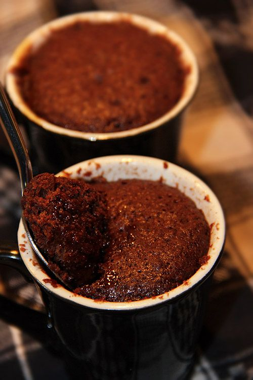 Mug Cake - chocolate cake in the cup! - Kryddburken.se