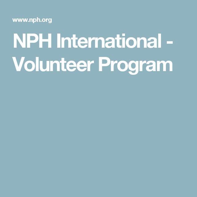 NPH International - Volunteer Program