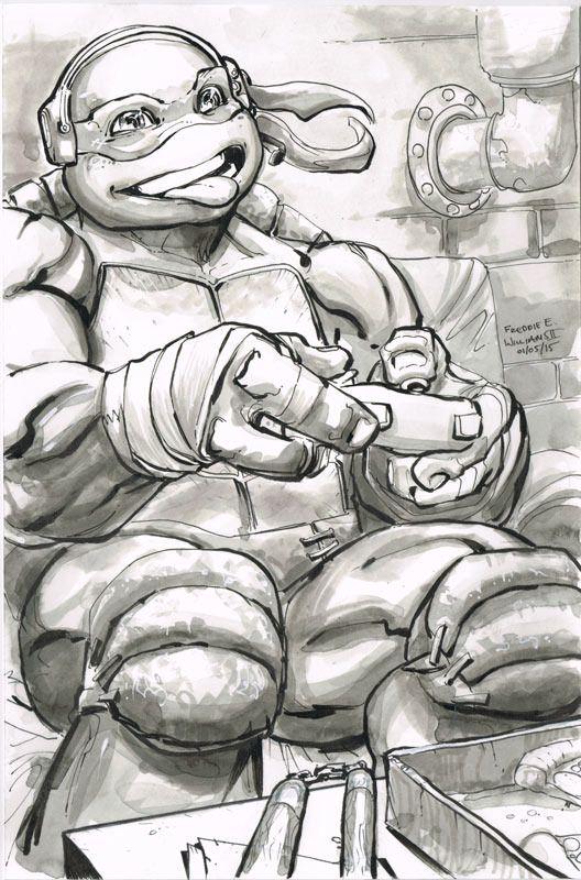 Teenage Mutant Ninja Turtles - Michelangelo by Freddie E. Williams II