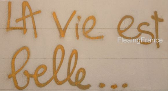 Gold French sign-FleaingFrance