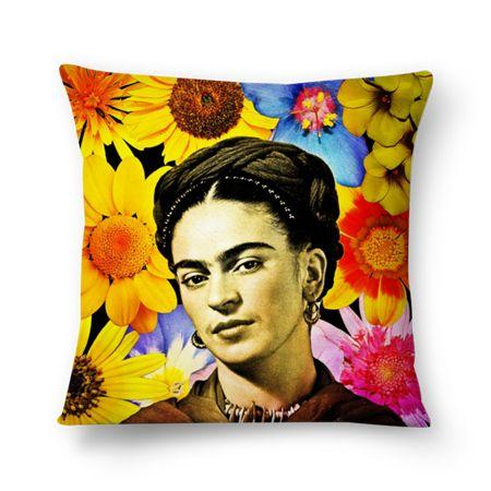 Almofada Cores de Frida Kahlo, flores! de @hoppe | Colab55